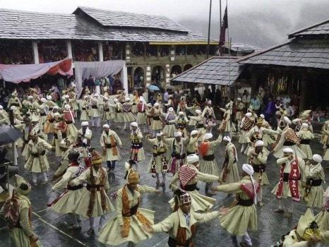 Folk dance at Chatrari,Chamba