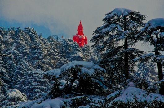 Idol of Hanuman at Jakhoo (Shimla)