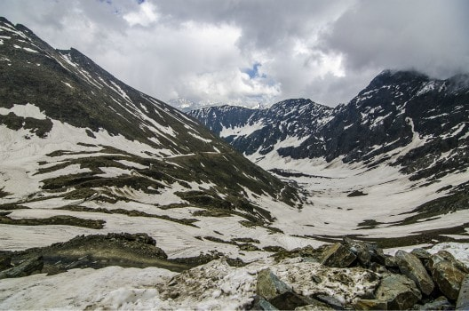 View from Sach top towards Pangi Valley (Chamba )