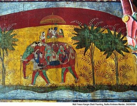 Wall paintings at Dadasiba