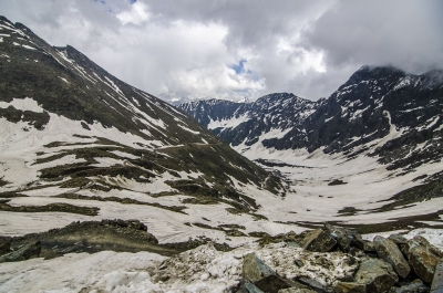 View from Sach top towards Pangi Valley (Chamba)
